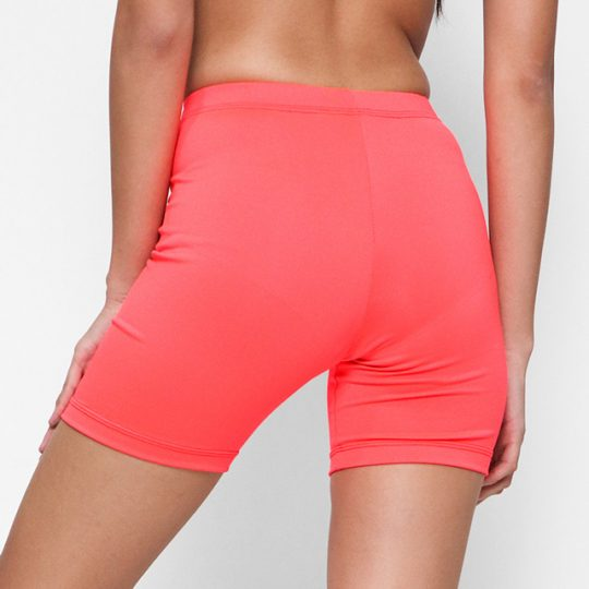 LADIES COMPRESSION SHORTS CORAL PINK